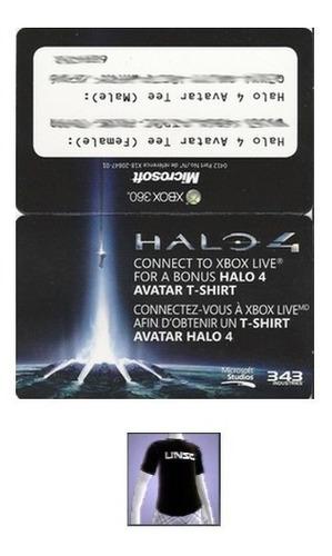 halo 4 avatar item exclusivo código xbox 360