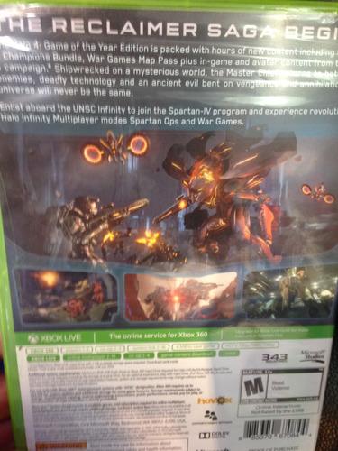 halo 4 xbox 360 one sellado nuevo game of the year edición