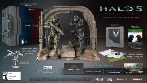 halo 5: guardians - limited collector's edition - xbox on