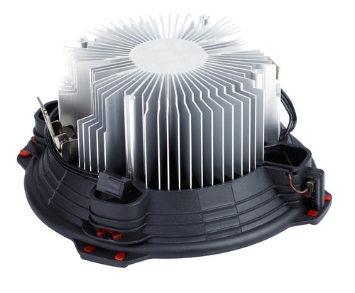 halo led light cpu cooler pc case ventilador de enfriamiento