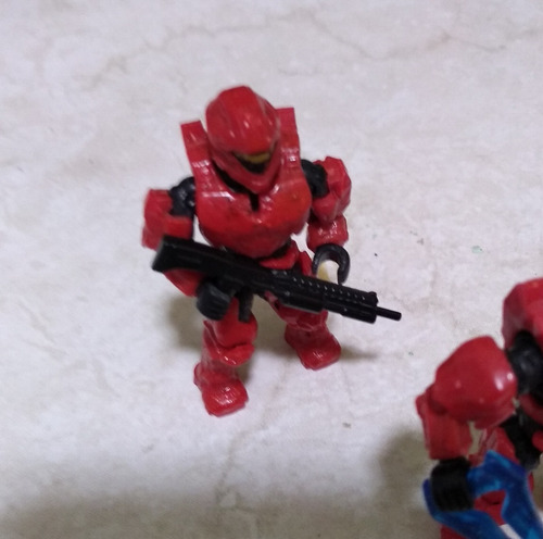 halo mega bloks spartan rojo y compañeros
