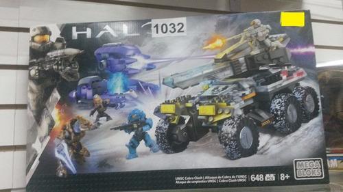 halo mega bloks unsc cobra clash 648 piezas nuevo!!