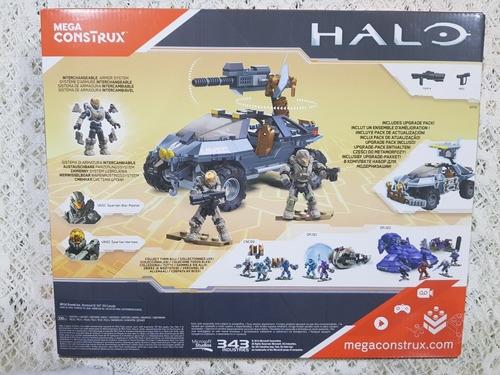halo mega construx: warthog de doble modalidad + 3 spartan
