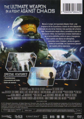 halo the fall of reach pelicula dvd