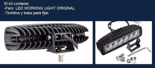 halogeno barra led 18w neblineros autos moto faro 4x4 tuning