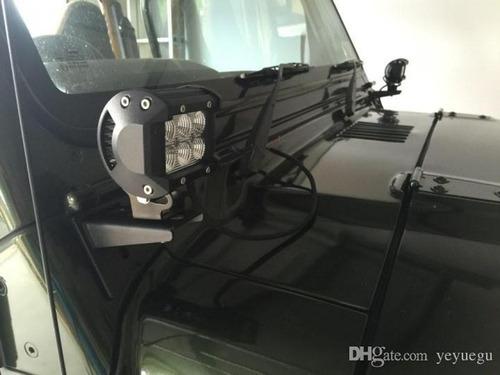 halogeno barra led neblineros cree 18w 10cm para jeep 4x4