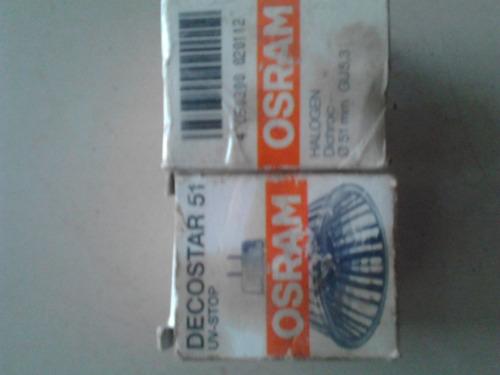 halógeno, ojo buey gu 5,3 mm,  halogeno dichoic 51 mm osram.