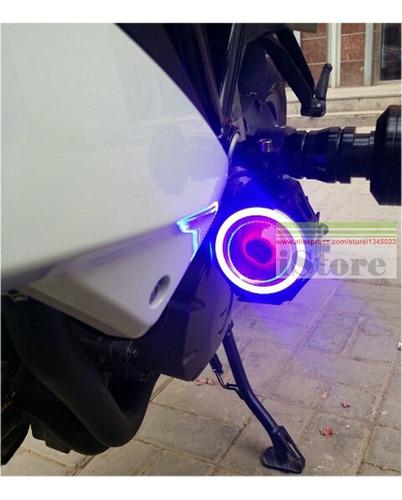 halogenos led ojo de angel para moto