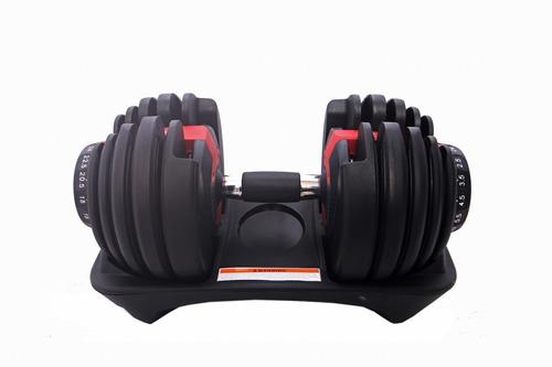 halter regulável vermelho 24kg - dumbell drumbell anilhas