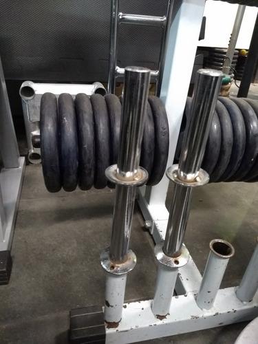 halteres - barras e anilhas - kit 180kg - somente retirada