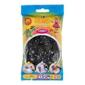 Hama Beads Midi Perler 1000 Unidades Color Negro Pixel Art