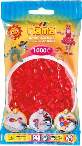 hama beads midi perler 1000 unidades color rojo pixel art