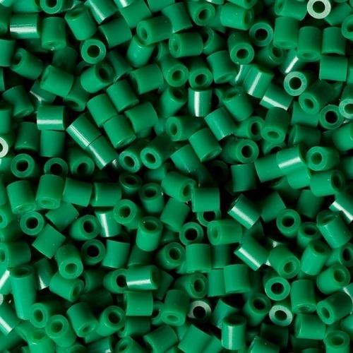 hama beads midi perler 1000 unidades color verde pixel art