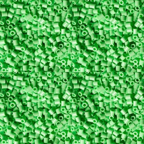 hama beads mini perler 2000 unid color verde pastel pixelart