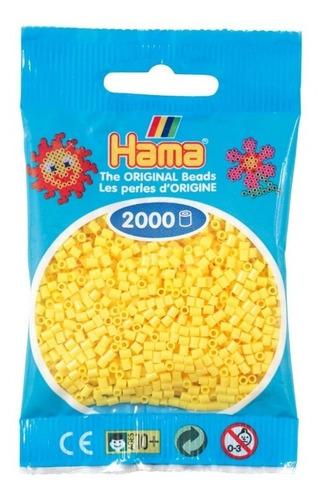 hama beads mini perler 2000 unids. color amarillo pixel