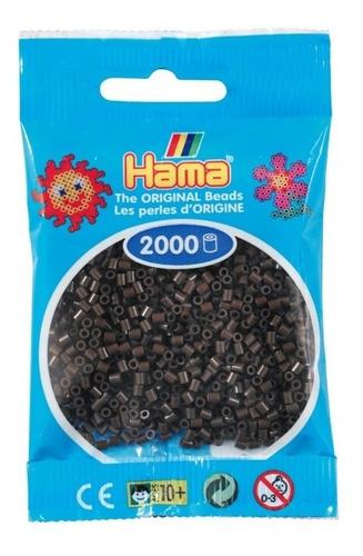 hama beads mini perler 2000 unids. color café oscuro pixel