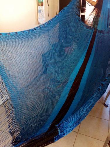 hamaca artesanal de doble tejido e hilos de alta calidad.