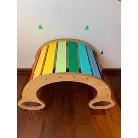 Hamaca Balancín Montessori Waldorf Arco Iris O Tonos Pastel