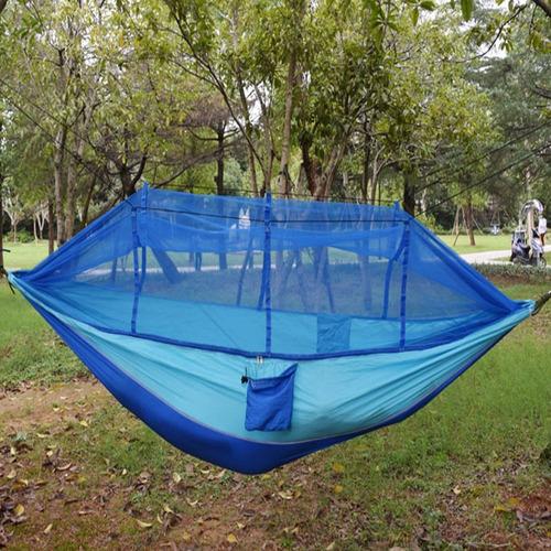 hamaca camping colgante columpio con mosquitero ligera compacta jardin exteriores para acampar