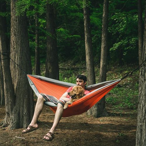 hamaca camping con mosquitero y bordes inflables anti rodamiento 1-2 personas