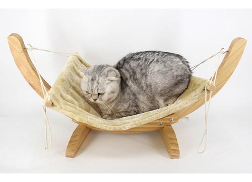 hamaca colgante de madera columpio de cama para gatos