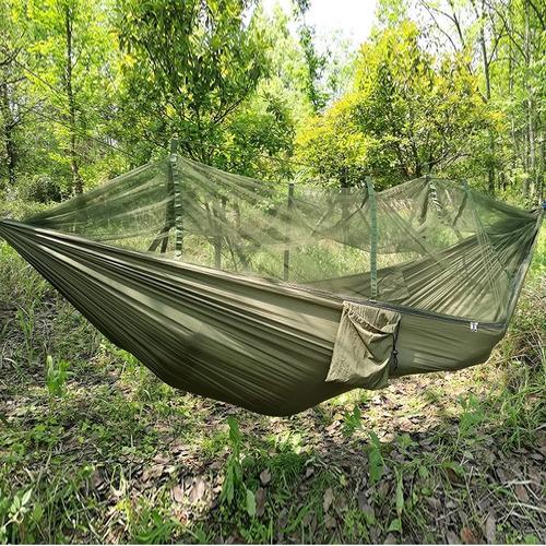 hamaca con mosquitero para acampar al aire libre