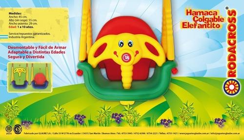 hamaca de bebé elefante rodacross 1 a 10 años. quilmes
