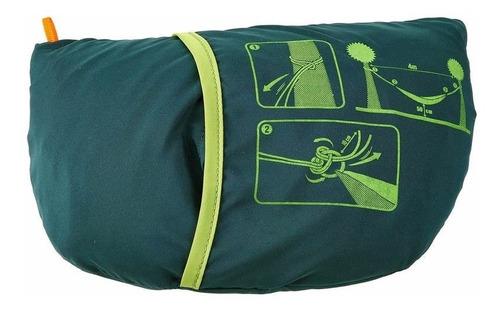 hamaca de campamento verde cabe en tu bolsa