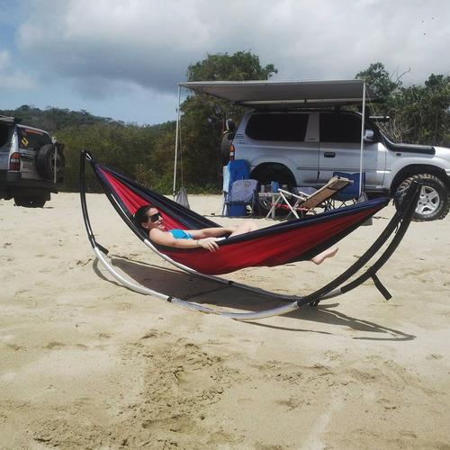 hamaca de camping, playa montaña