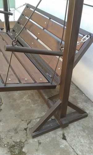 Hamaca de jardin en hierro y madera en mercado libre - Estructura hamaca ...