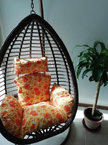 hamaca de jardin oval colgante con pedestal