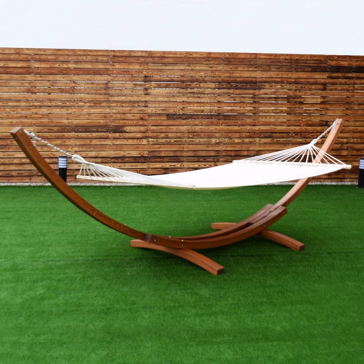 Hamaca de madera jard n aire libre patio 8 en for Jardin jardin al aire libre