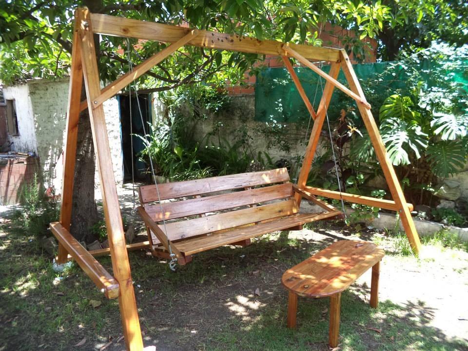 Hamacas de jardin muebles venta hamacas muebles jardn - Columpio madera jardin ...