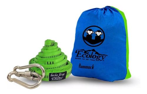 hamaca doble para camping con kit de suspensión ecology