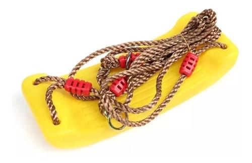hamaca infantil para niños en plástico con cuerdas gruesas