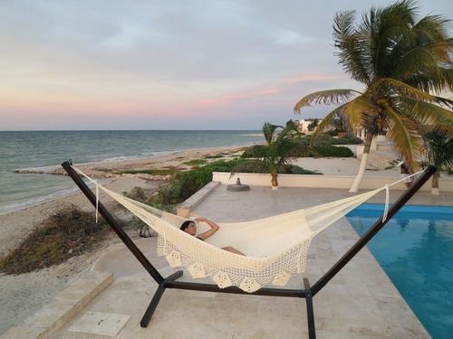 hamaca maya deluxe, algodon natural, tamaño amplio queen