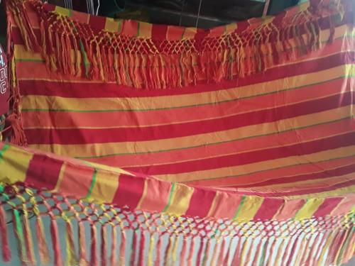 hamaca morroana elaborada artesanalmente con flecos  a mano