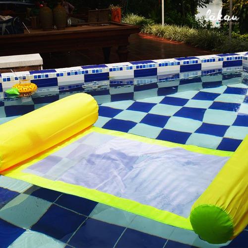 Hamaca para agua flotador piscina en mercado libre for Hamacas de piscina