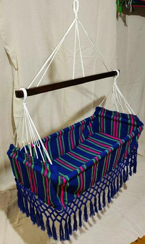 hamaca para bebe colgante cuna 100% artesanal colombianas