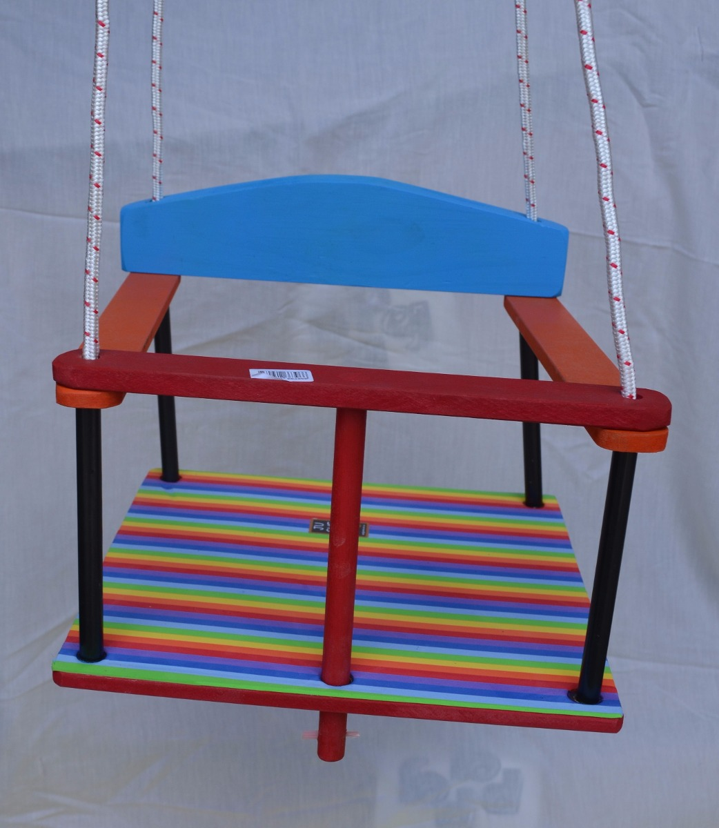 Hamaca para beb de madera recubierta con goma eva 539 00 en mercado libre - Precio de hamacas para bebes ...