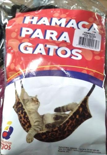 hamaca para gatos nueva negro rojo