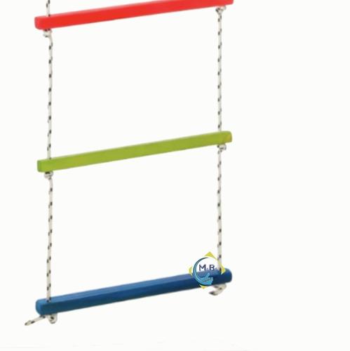 hamaca para niño madera escalera trepadora de colgar niños