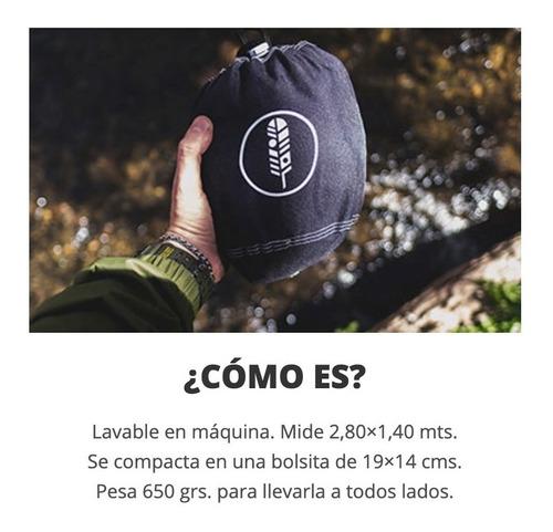 hamaca paraguaya portátil ultra liviana bolso soga mosqueton