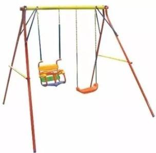 hamaca portico doble tabla + bebe reforzado plaza juegosol