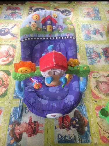 hamaca silla bebe,con vibraciones y sonido fisher price