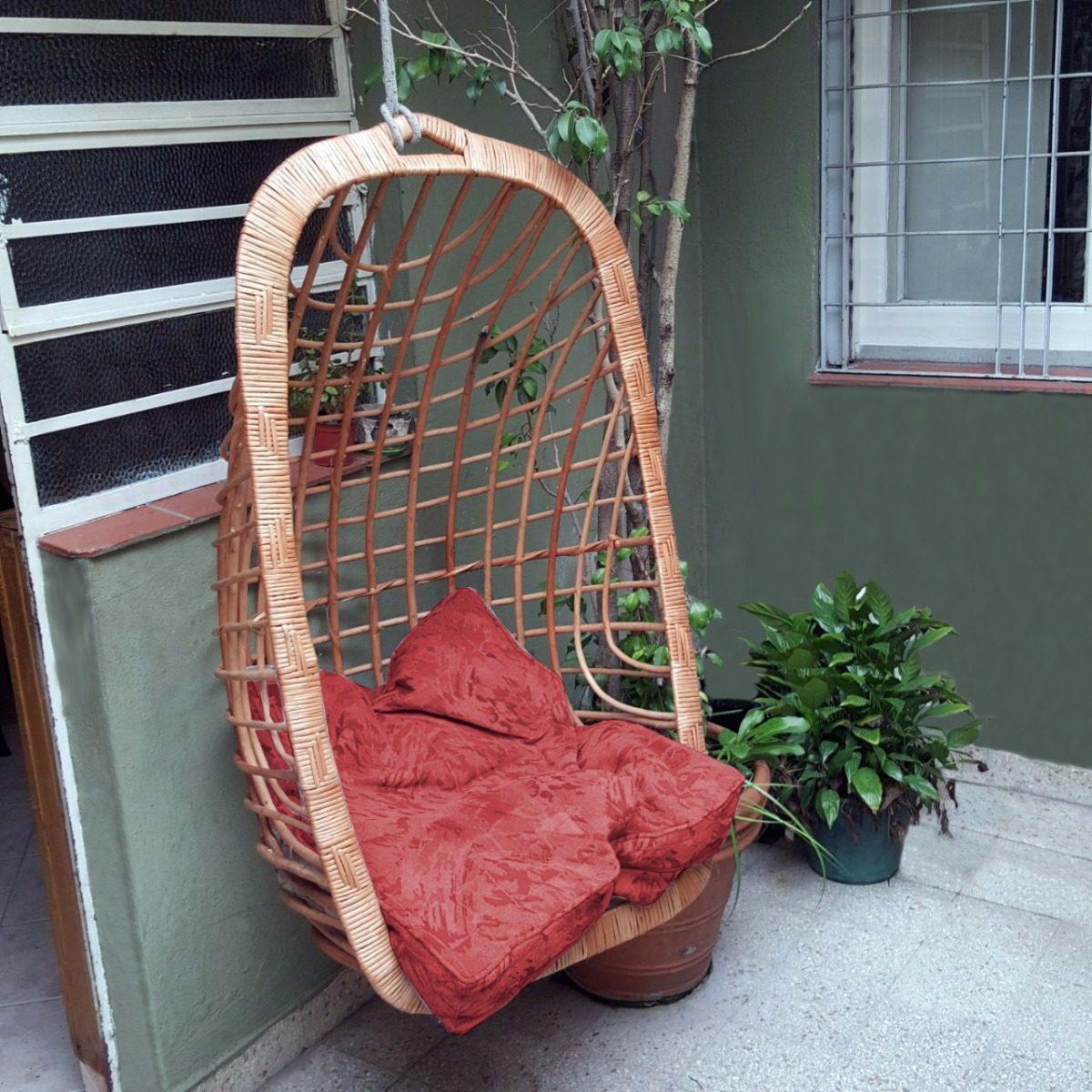 Silla colgante mimbre fabulous sillas colgantes para el - Sillas colgantes de mimbre ...