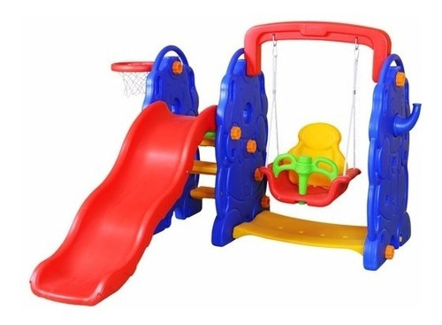 hamaca + tobogan infantil + aro - juego 3 en 1  jardin