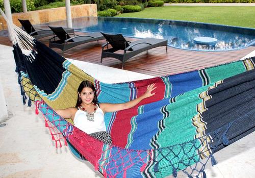 hamacas artesanales algodón 100% king size frescas y cómodas