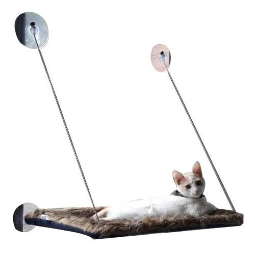 hamacas de ventana para gatos. tela de peluche - miel felina