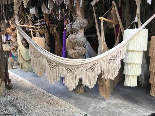 hamacas en algodón  tamaño individual